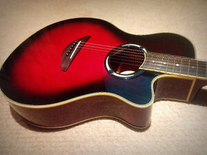 Red Yamaha APX500iii Thinline Acoustic Electric