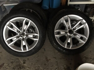 BMW 17' Rims with Dunlop run-flat winter tires
