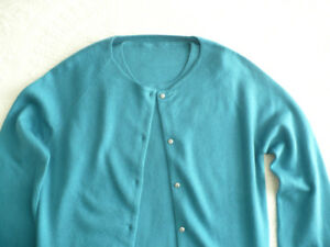 WOMAN'S TRADITONAL TWINSET SWEATER SET - AQUA - NEW