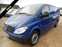 2006 55 MERCEDES-BENZ VITO 2.1 111 CDI EXTRA LONG LWB DOG VAN 36916 MILES ONLY D