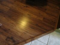 HAND SCRAPED HICKORY LAMINATE FLOORING