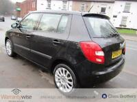 SKODA FABIA ELEGANCE TDI CR, Black, Manual, Diesel, 2010 MOT SEPT 2017