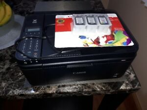 Canon Pixima Printer with 3 new ink cartridges for sale