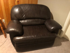 Leather Chair and a Half Sofa