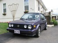 1988 VW  GOLF CONVERTIBLE