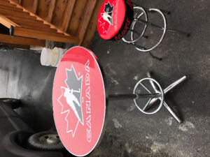 Team Canada bar table and stool