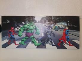 DC Comics Canvas vs Abbey Road