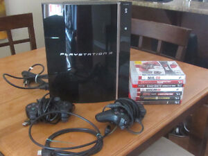 LIKE NEW PS3 / 2 CONTROLLERS / 7 GAMES - PLAY STATION 3