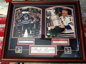 Mark Messier autographed photo COA from Steiner Stanley Cup NHL