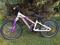 """Specialized Hotrock girls 20"""" bike white purple"""