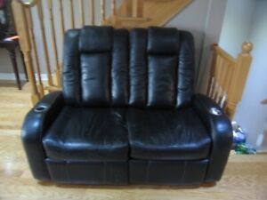 Leather Love Seat  Recliner Ashley