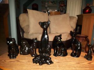LARGE COLLECTION OF CERAMIC BLACK CATS