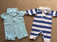 Ralph Lauren Baby Boy baby-gro's 3 months