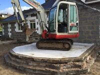 3 TON MINI DIGGER HIRE with or without operator.