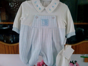 New blue and white baby outfit
