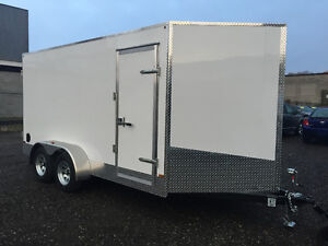 7' x 14' Tandem Axle Cargo Trailer • 7' tall! • Made in Canada Kitchener / Waterloo Kitchener Area image 5