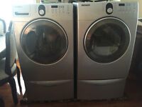 Samsung front load washer dryer with pedestals - frontal