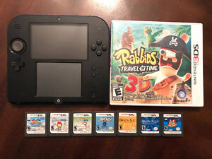 Blue Nintendo 2DS with Games