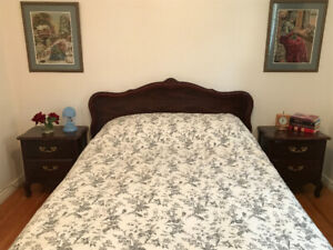 4 piece double bedroom set (with boxspring & mattress)