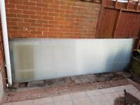 4x POLYCARBONATED PLASTIC ROOFING PANELS
