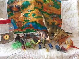 Selection of toy dinosaurs