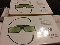 2 pairs of Brand New boxed Replacement Active 3D Glasses for Sony TV
