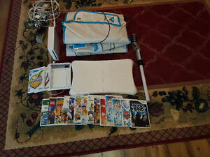 Wii with Wii Fit Drawing tablet Dance mats and MORE
