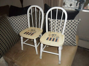 Antique Children's Chairs or  Geriatric Cat Step
