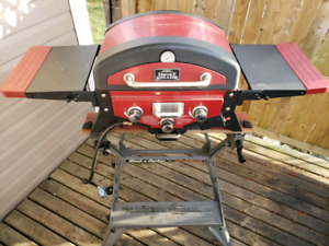 "20"" Vector 3-Burner Propane Gas Grill Tabletop w/ Smoke Tray"