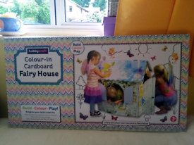 Hobbycraft craft colour-in carbourd Fairy House