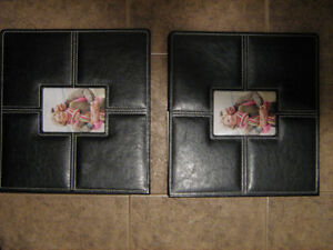 """Leather Scrapbook Albums """"Never Used"""""""