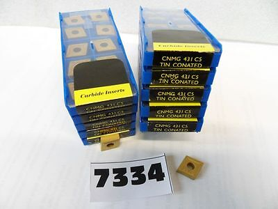 10 Pcs Cnmg 431 C5 Tin Coated Carbide Inserts New Pic7334