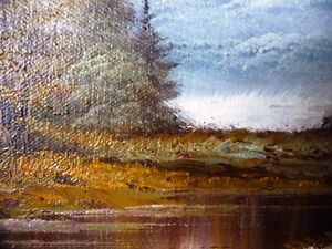 """Original Oil Painting by Phillip Cantrell """"Slow River Afternoon"""" Stratford Kitchener Area image 7"""
