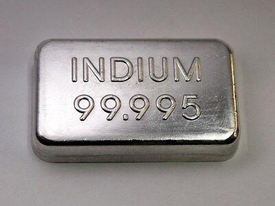 High Pure Indium Metal Ingot 99.995 Min. - 100 Grams