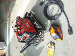 Lincoln 180 mig pack welder with cart and helmet