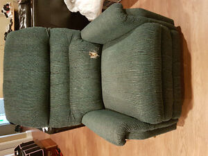 Green recliner chair