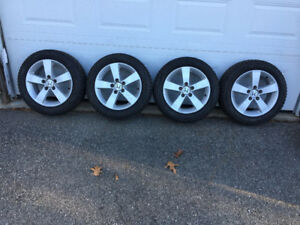 "16"" Honda Civic Factory  Alloys & Winter  Tires"