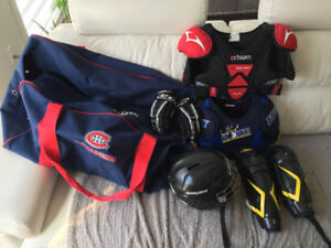 Équipements de hockey pour enfant