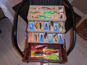 fishing tackle box + lures
