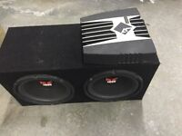 """Rockford Fosgate subs 10"""" and amp"""