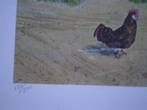 """Roger Witmer """" Little Red Wagon """" Limited Edition Print Kitchener / Waterloo Kitchener Area image 7"""