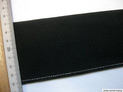 Gummiband  Bündchen Gürtel Meterware schwarz 7,2cm breit MC24