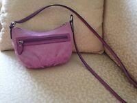 Beautiful purple Coach cross-body bag