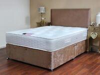 Divan Bed with semi orthopedic mattress & matching headboard