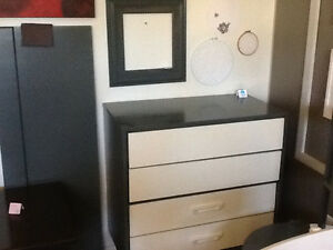 Charcoal grey dresser and etc