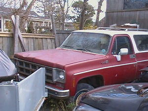 1976 GMC Jimmy red Pickup Truck