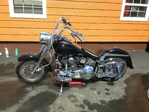 real clean and nice 1989 softail full chrome