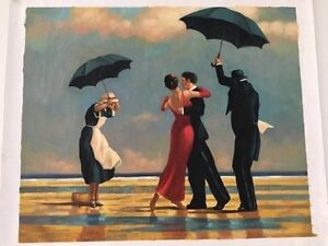 The Singing Butler by Jack Vettriano ( oil painting on canvas -re Mornington Clarence Area Preview