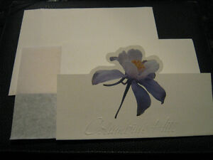 blank cards for wedding, invitations, thank you, etc.