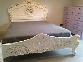 French solid mahogony king-size bed